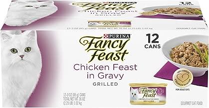 Purina Fancy Feast Gravy Wet Cat Food, Grilled Chicken Feast in Gravy - (12) 3 oz. Cans