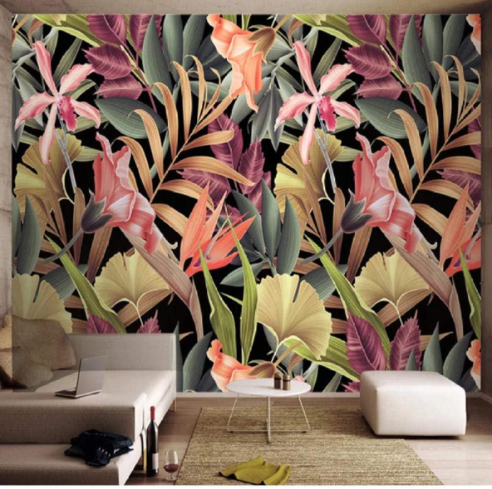 Pbldb Custom San Antonio Mall Save money Mural Wallpaper 3D Tropical Leaves Paint Wall Plant