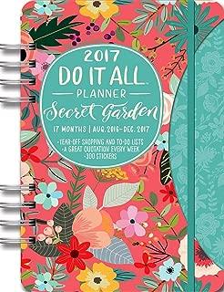 Orange Circle Studio 17-Month 2017 Do It All Planner, Secret Garden