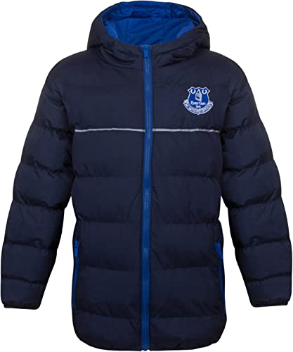 Everton FC officiel - Doudoune matelassée thème football - à capuche - Garçon