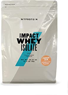 Myprotein® Impact Whey Isolate Protein Powder, Strawberry Cream, 2.2 Lb (40 Servings)
