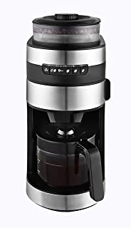 Venga! VG CCG 3006 Coffee Maker with Grinder - 750 W, Glass, Plastic, Stainless Steel, 850 ml, Black