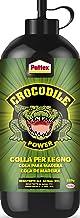 Pattex Crocodile Power Cola para madera, pegamento fuerte para madera para interiores y exteriores*, cola transparente al ...