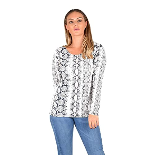 5caca0c9aa Crazy Girls Womens Ladies Leopard Aztec Zebra Camouflage Skull   Rose Print  Long Sleeve Basic Casual