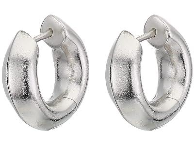 Kendra Scott Mikki Huggie Earrings (Rhodium Metal) Earring