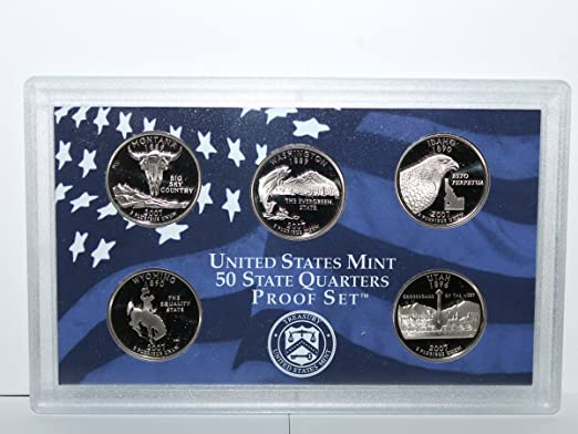 No Box // COA 2007 S Clad Proof State Quarter Set