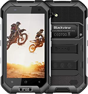 Rugged Cell Phones Unlocked, Blackview BV6000S IP68 Waterproof Unlocked Smartphone 4G Android 7.0 2GB+16GB 4.7 Inch FHD+IPS 4500mAh 2MP+8MP for AT&T/T-Mobile NFC Rugged Phones (Black)