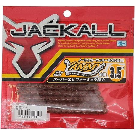 JACKALL(ジャッカル) ワーム ヤミィ500 3.5インチ エビミソレッドフレーク
