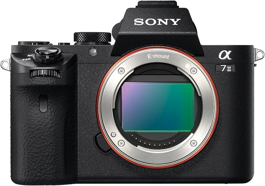 Sony ILCE-7M2 Alpha7 II - Cámara EVIL de 24.3 MP con montura tipo E y sensor de fotograma completo estabilizador de 5 ejes Full HD color negro