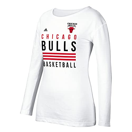 adidas NBA Women s 3 Stripe Stack Long Sleeve Crew Tee a8939e869