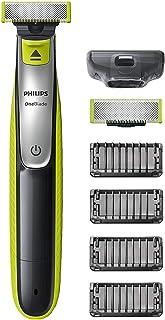 Philips OneBlade Face - Trimma, styla och raka - För alla skägglängder - 4 stubbkammar med klickfäste - 60 minuters använd...