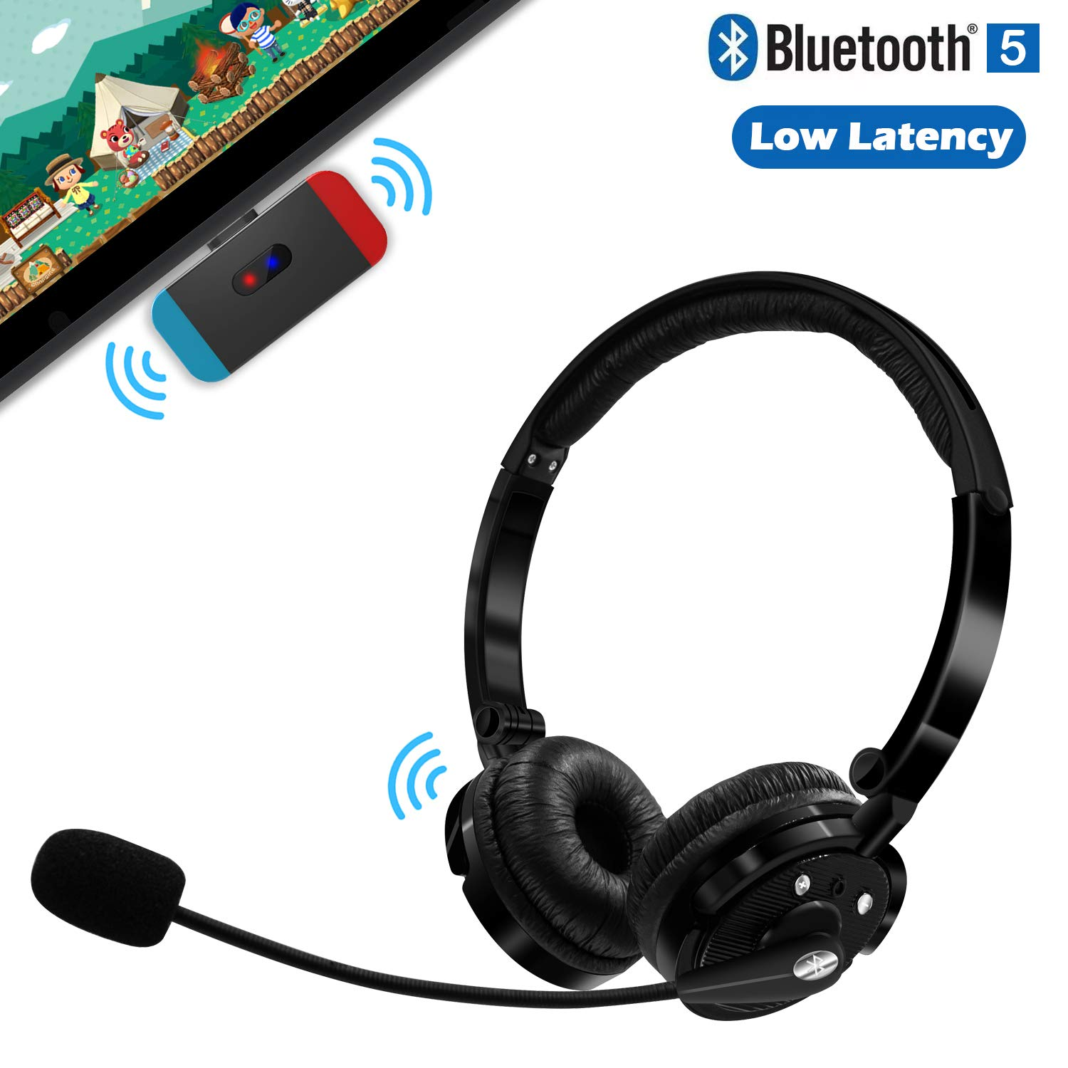 Amazon Com Friencity Wireless Gaming Headset Set W Usb C Audio Dongle Transmitter For Nintendo Switch Noise Cancelling Bluetooth Headphones W Mic For Ps4 Pc Voice Chat Music No Audio Delay Plug