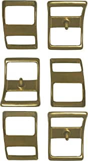 brass conway buckles
