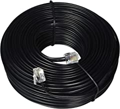 iMBAPrice 100 Feet Long Telephone Extension Cord Phone Cable Line Wire - Black
