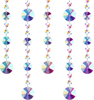 Fushing 5 Pcs Colored Crystal Chandelier Wedding Beads Strands for Chandelier Home Party Wedding Christmas Decoration (1ft, Style 1)