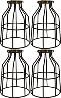 Newhouse Lighting WLG1B-4 Metal Bulb Guard Lamp Cage for Pendant Lights, Lamp Holders, Ceiling Fan and Light Bulb Covers, Vintage and Industrial Style, 4-Pack