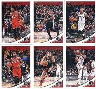 2018-19 Donruss Basketball Toronto Raptors Team Set of 6 Cards: (Rookies included) Kyle Lowry(#3), OG Anunoby(#23), Serge Ibaka(#33), Jonas Valanciunas(#43), Danny Green(#111), Kawhi Leonard(#121)