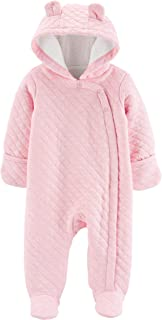 Carter's Baby Girls' Newborn-9M Hooded Quilted Pram Sleep & Play