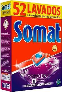 comprar comparacion Somat Todo En 1 Detergente Pastillas para Lavavajillas Máquina - 52 Lavados