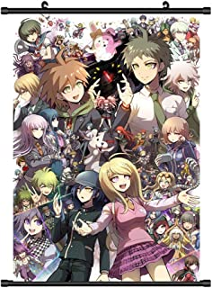 Elibeauty Anime Danganronpa V3 Scroll Poster, Anime Cartoon Character Poster Waterproof Cloth Wall Scroll Poster Hanging Paintings Home Decor Perfect for Anime-Fans