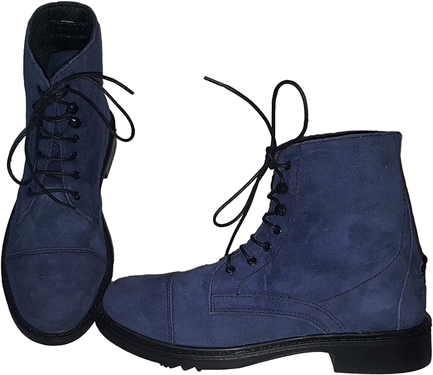 Women Horse Riding Equestrian Suede Shoes for Active Riders Exclusive Color Blue TuffRider Womens Lace Up Paddock Boots