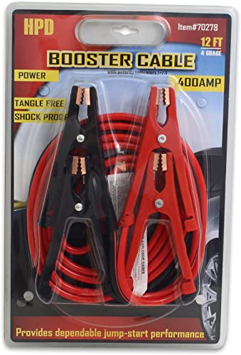 2021 Jump Start Auto Car Motorcycle Bike Truck 2021 Big SUV outlet sale Battery Booster Jumper Cable 400-amp 12-Feet Heavy Duty 4-Guage. outlet online sale