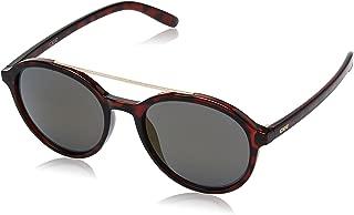 IDEE Mirrored Round Unisex Sunglasses - (IDS2400C3SG 51 Gold Mirror-Smoke Color)