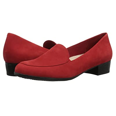 Trotters Monarch (Red Nubuck Leather) Women