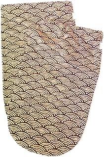 Jim Thompson - 100% Thai Silk - Set of 2 Shoe Bag / Pouch - Wave