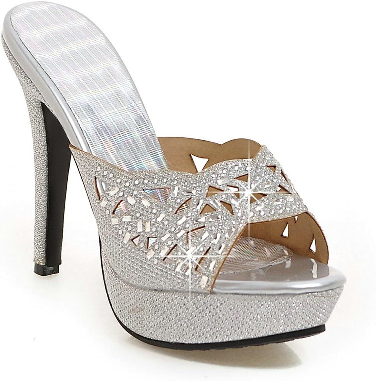 Twinkle UU Rhinestone High Heel Slippers Gladiator Platform Sandals Woman Flip Flops Casual Slides Slippers