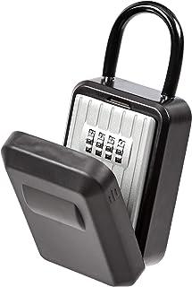 Amazon Basics Portable Key Storage Box With Waterproof Cover - Combination Lock - Black