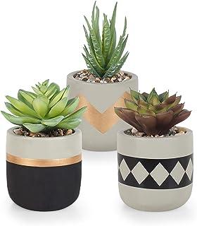 Gadgy Plantas Artificiales Decorativas Con Maceta | Juego De 3 | Planta Artificial Decorativa | Plantas Falsas En Macetas ...