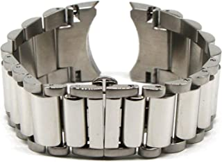 28MM Silver Stainless Steel 8 Inches Watch Strap Bracelet Fits Commander Men's Watch