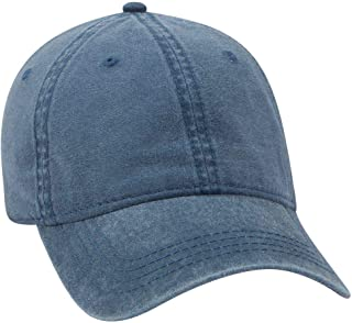 6 Panel Low Profile Garment Washed Pigment Dyed Baseball Cap
