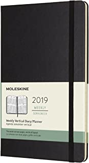 Moleskine Classic 12 Month 2019 Weekly Planner, Hard Cover, Large (5