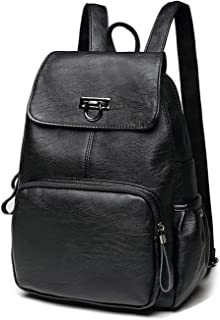 Leather Backpack Women Fashion Female Backpack String Bags Large Capacity School Girl Daily Bag
