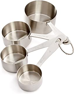 Martha Stewart Collection: Stainless Steel Measuring Cups Set of 4
