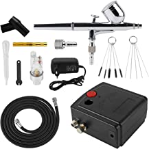 Forever Speed Airbrush Compressor Set Double Action Airbrush Compressor Tattoo Art Spray Model Craft Cake Airbrush Set