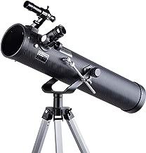 IQCrew 35X-350X 76mm Dobsonian Telescope with 2X Barlow Lens and Tripod