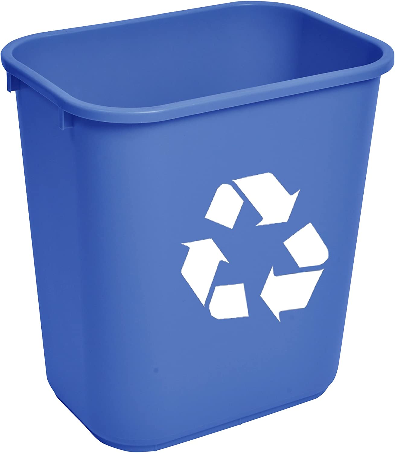 Janico 1037BL-12 41 Qt Rectangular Wastebasket, Recycle Can, bluee (Pack of 12)
