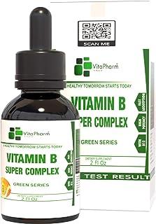 Prime B12 Methylcobalamin Complex | New Raspberry Flavor Vitamin B Complex Liquid Drops | VitaPharm Nutrition | B2 B3 B5 B...