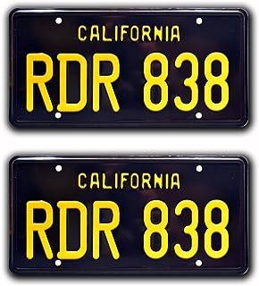 1969/Dodge Charger g/én/éral Lee M/étal poin/çonn/é Vanity Prop plaque dimmatriculation Celebrity Machines Fais-moi peur Cnh 320/