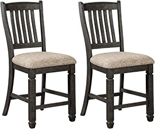 Ashley Furniture Signature Design - Tyler Creek Counter Height Bar Stool - Black/Gray