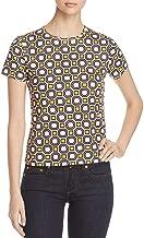Tory Burch Womens Louis Cotton Pattern Blouse
