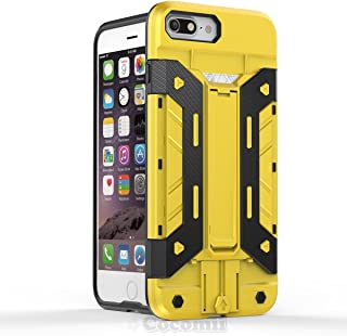 Cocomii Transformer Armor iPhone 8 Plus/7 Plus Case New [Heavy Duty] Built-in Multi Card Holder Kickstand Shockproof Bumper [Military Defender] Cover for Apple iPhone 8 Plus/7 Plus (T.Yellow)