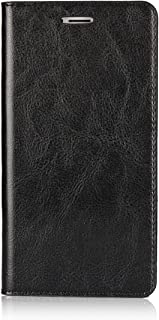 Cavor Huawei Honor 6X Wallet Case, Crazy Horse Pattern Genuine Leather Folio Bookstyle Flip Case Cover Stand Function with Card Slots/Cash Compartment for Huawei Honor 6X (5.5