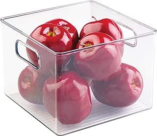 iDesign Plastic Bin, Kitchen Storage Organizer for Refrigerator, Freezer and Pantry, 8