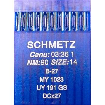 SCHMETZ - Agujas para máquina de coser (10 unidades, B-27): Amazon ...