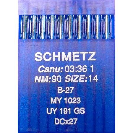 100 agujas para m/áquinas de coser industriales redondas sistema de agujas DBx1 1738 Schmetz