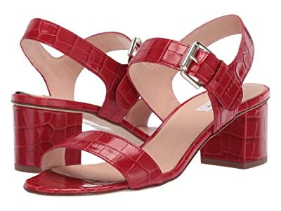 L.K. Bennett Pelham Block Heel (Roca Red) High Heels